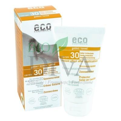 Cremă bio protecție solară înaltă SPF 30 nuanțată 75 ml Eco Cosmetics