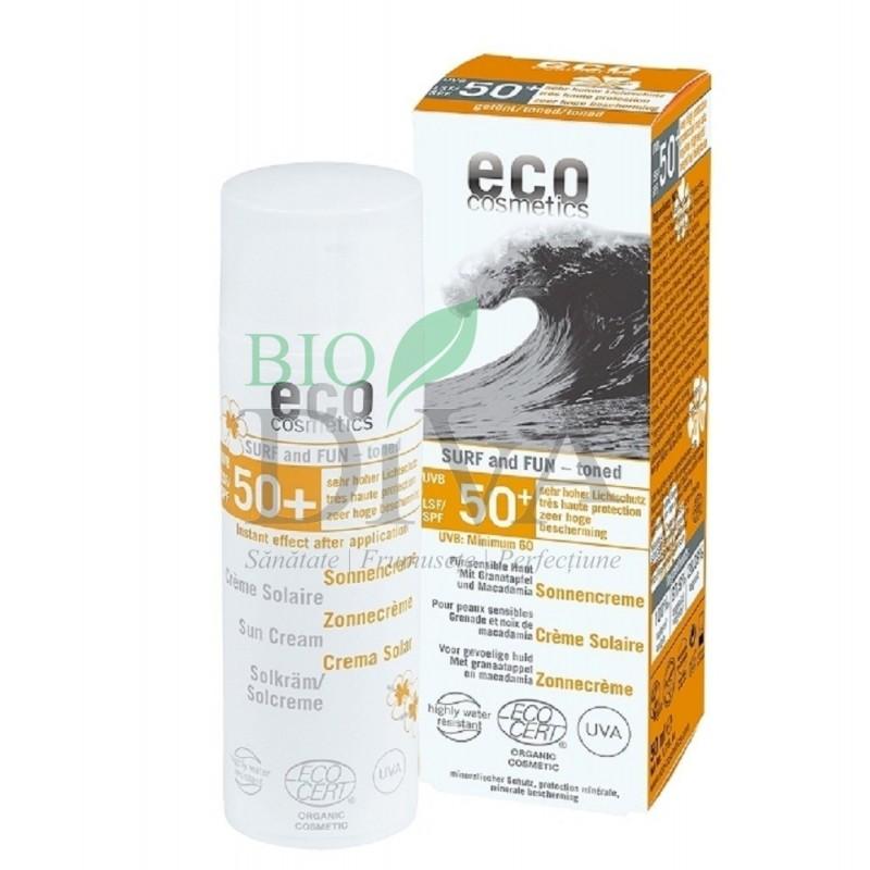 Cremă bio cu protecție solară SPF 50 extra-rezistentă la apă Surf and Fun 50 ml Eco Cosmetics
