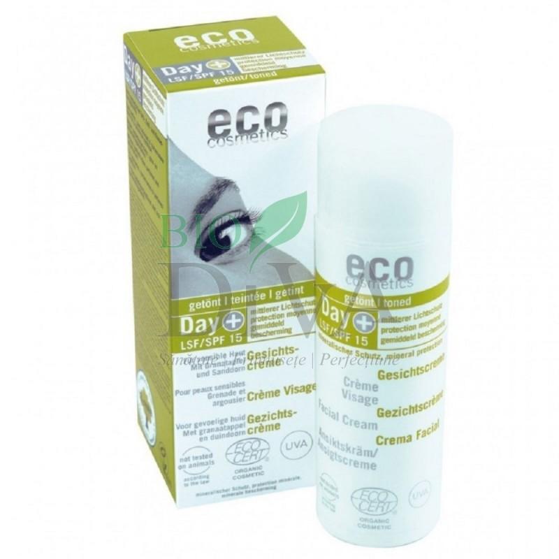 Cremă de zi protecție solară SPF 15 hidratantă nuanțatoare 50 ml Eco Cosmetics