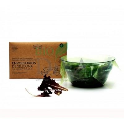 Folie alimentară reutilizabilă din silicon 4 bucăți Irisana