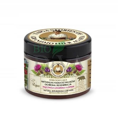 Mască de păr reparare și protecție Burdock and Bearberry 300 ml Taiga Stories