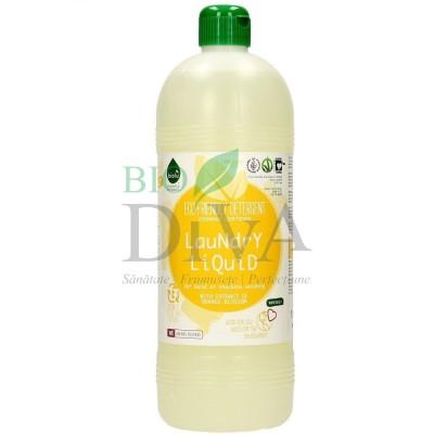 Detergent ecologic lichid pentru rufe albe și colorate cu portocale 1L BIOLU