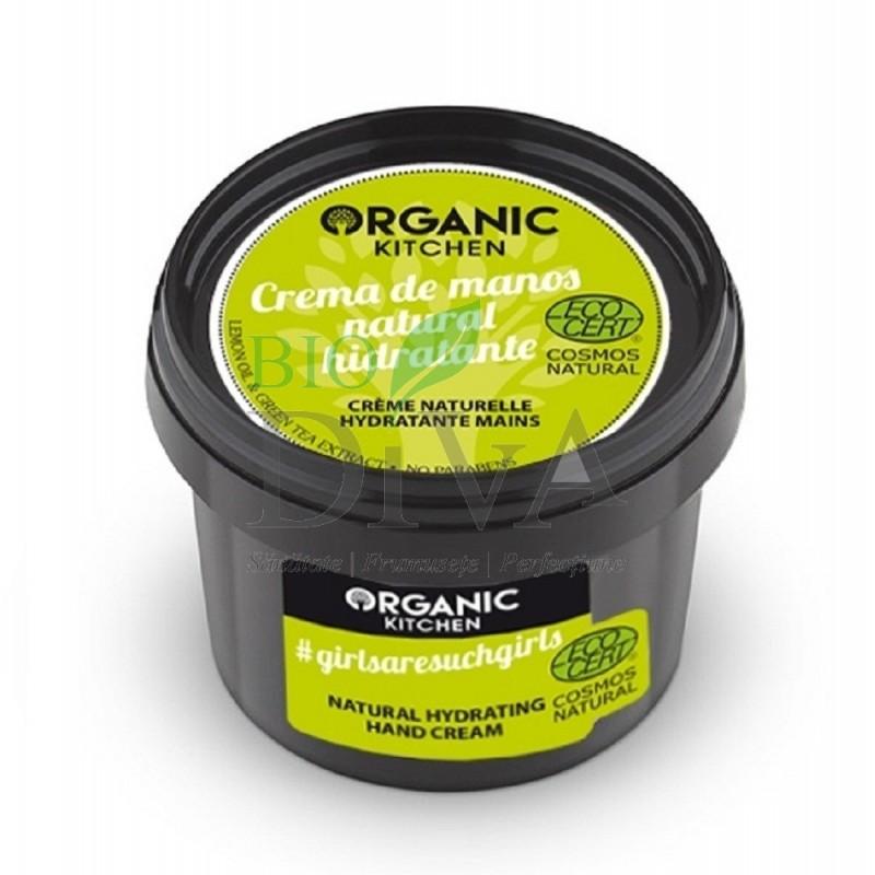 Cremă de mâini cu lămâie și ceai verde 100 ml Organic Kitchen