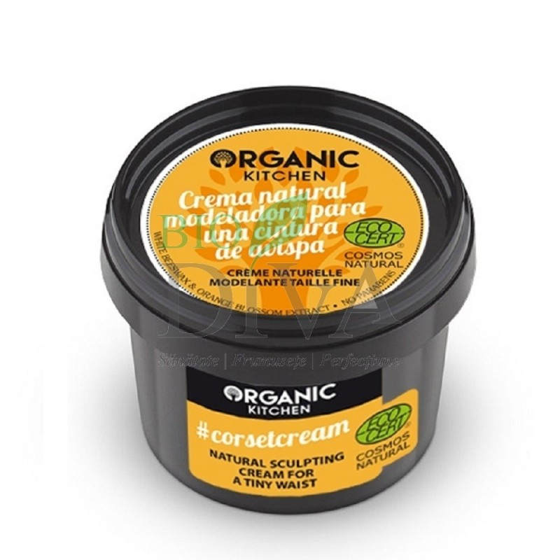 Cremă modelatoare pentru talie subțire 100 ml Organic Kitchen