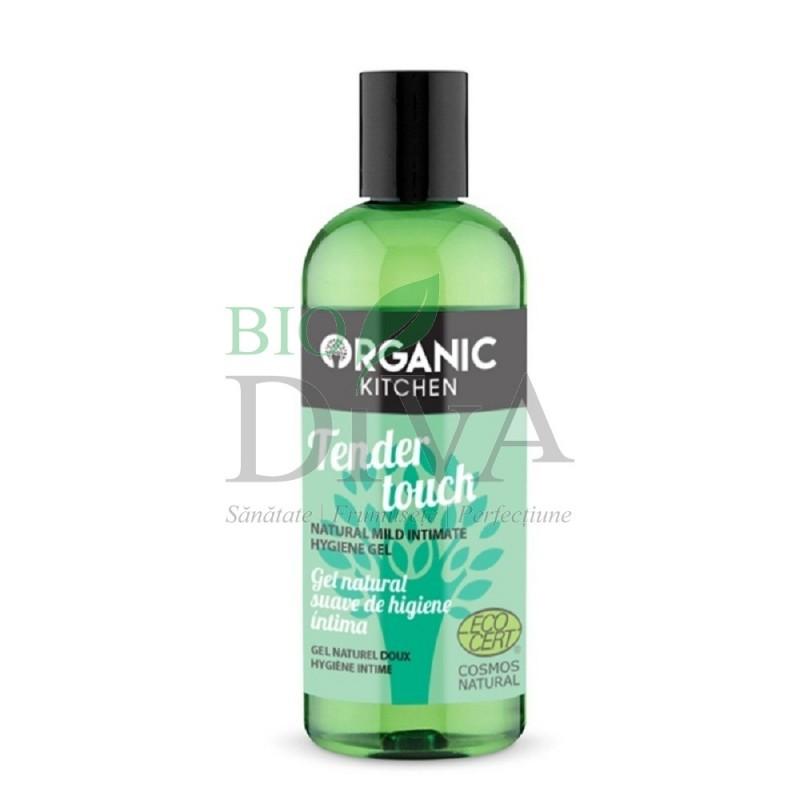 Gel bio cu mușețel pentru igiena intimă Tender Touch 260 ml Organic Kitchen