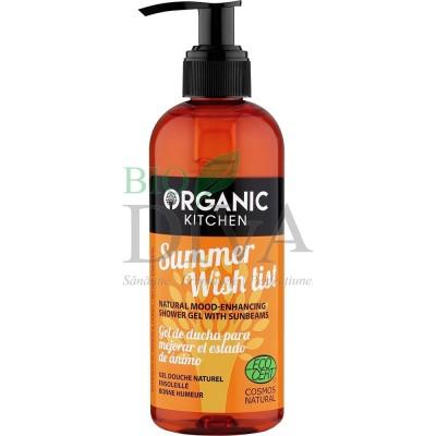Gel de duș bună-dispoziție Summer Wish List 260 ml Organic Kitchen