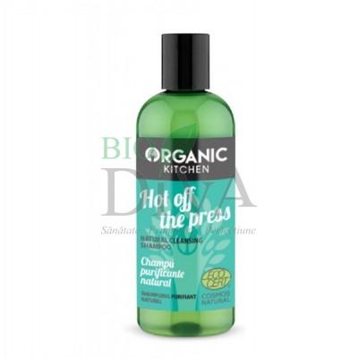 Șampon purificator cu mentă Hot Off The Press 260 ml Organic Kitchen