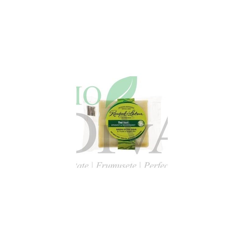 Sapun natural mini cu ceai verde si argan RAMPAL LATOUR