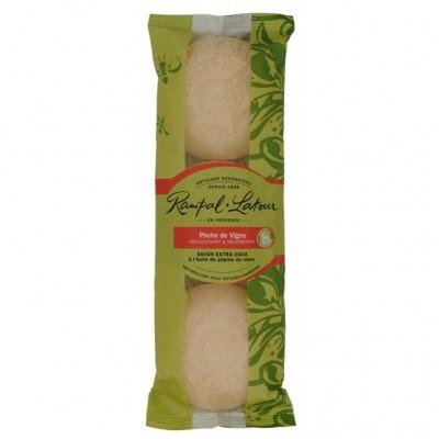 Pachet 3 sapunuri naturale cu piersica RAMPAL LATOUR