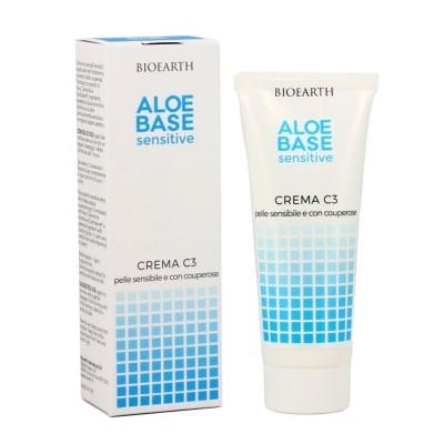 Crema C3 Aloebase pentru ten cuperozic & sensibil BIOEARTH
