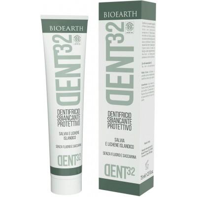 Pastă de dinți bio cu efect de albire DENT32 BIOEARTH