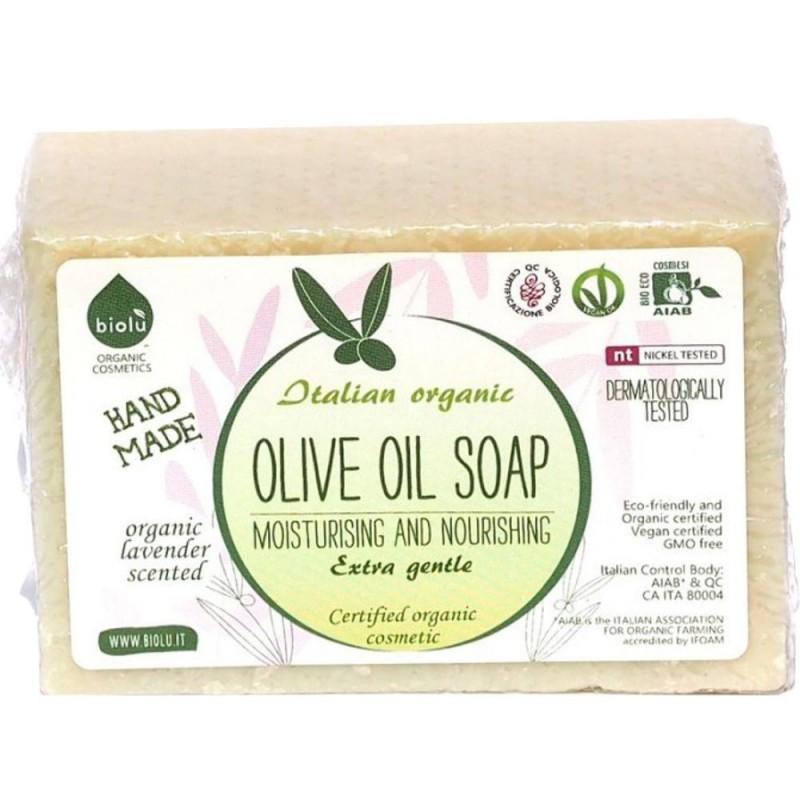 Săpun solid ecologic cu ulei de măsline 140g BIOLU