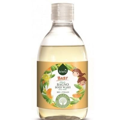 Gel de duș ecologic cu esență de mandarine pentru copii BIOLU