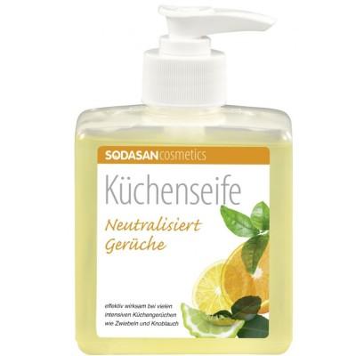Săpun lichid bio de mâini pentru scos mirosuri și degresat bucătărie Sodasan