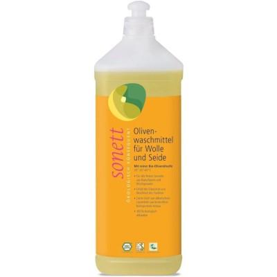 Detergent ecologic lichid pentru lână și mătase cu ulei de măsline 1L SONETT