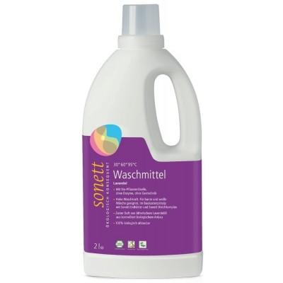 Detergent ecologic lichid pentru rufe albe și colorate cu lavandă 2L SONETT
