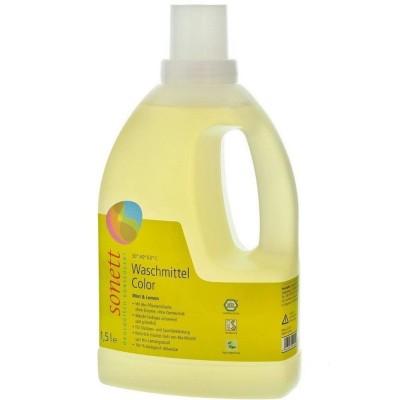 Detergent ecologic lichid pentru rufe colorate cu mentă și lămâie 1.5L SONETT