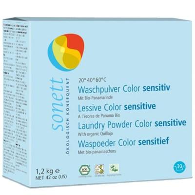 Detergent ecologic praf pentru rufe colorate sensitiv 1.2kg SONETT