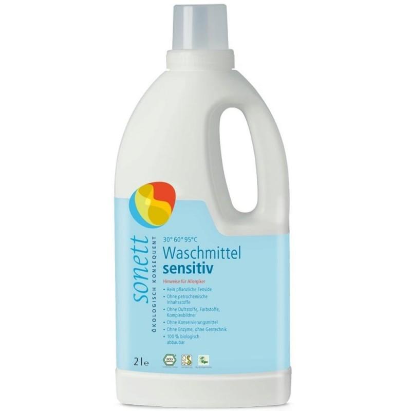 Detergent ecologic pentru rufe albe și colorate sensitiv 2L SONETT