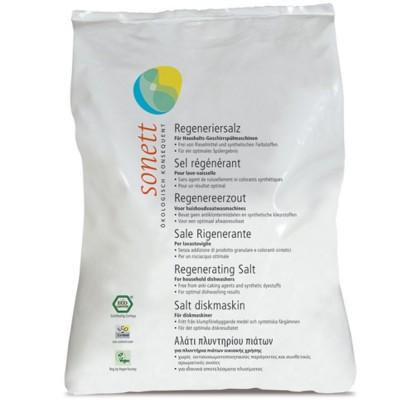 Sare regenerantă ecologică pentru mașina de spălat vase 2kg SONETT