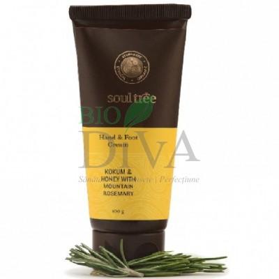 Cremă pentru mâini și picioare cu kokum, miere și rozmarin 100 g Soultree