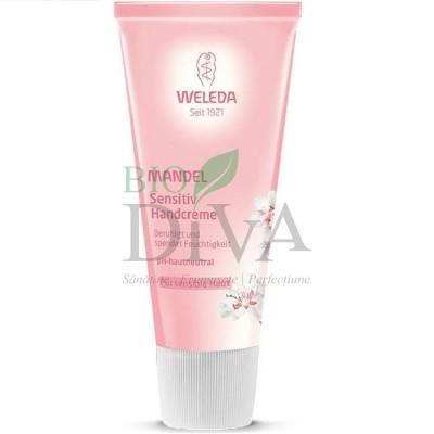Cremă de mâini cu migdale pentru piele sensibilă Weleda