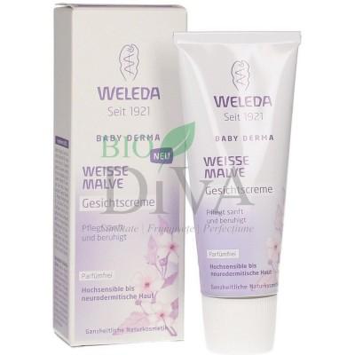 Cremă facială cu nalbă albă pentru piele hipersensibilă Weleda