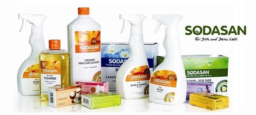 Sodasan - marcă de detergenți bio economici, certificați organic